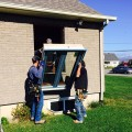 Installation de fenêtres à battants hybrides à l'Île d'orléans