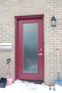 Porte entrée avec vitrail par Vitrostar à Qu.bec