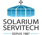 Solarium mur de verre puits de lumière